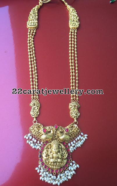 Peacock Lakshmi Long Chain in Silver