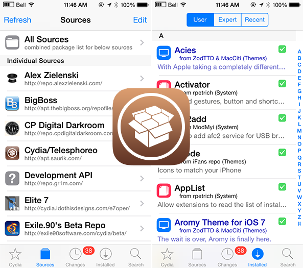 Cydia Gets Updated With iOS 7 Icon  And redesigned interface