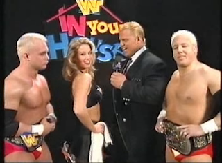 WWF / WWE - IN YOUR HOUSE 7 - GOOD FRIENDS BETTER ENEMIES - Mr. Perfect interviews Sunny and the Body Donnas
