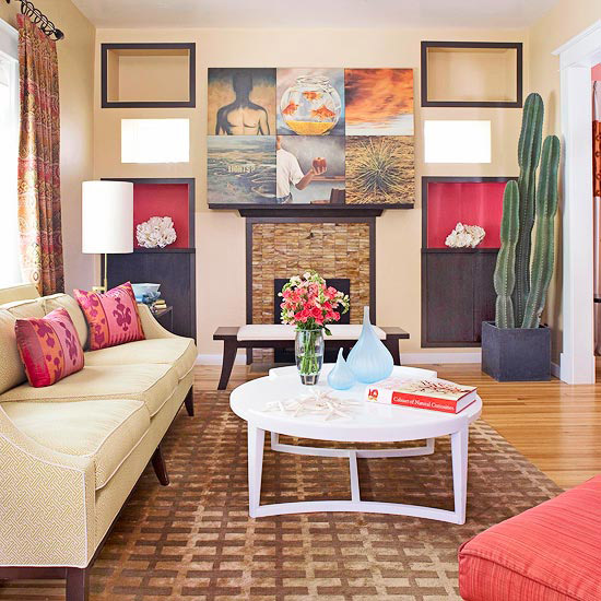 Your Living Room: New Home Interior Design: Add Color To Your Living Room