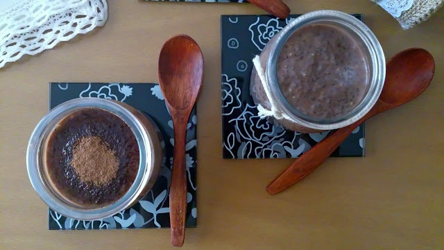 pudin chia chocolate batido diabéticos saludable healthy fit sencillo sin horno postre desayuno merienda saciante
