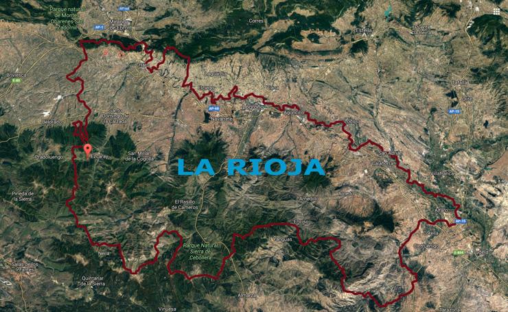 Situación de Ezcaray, en La Rioja