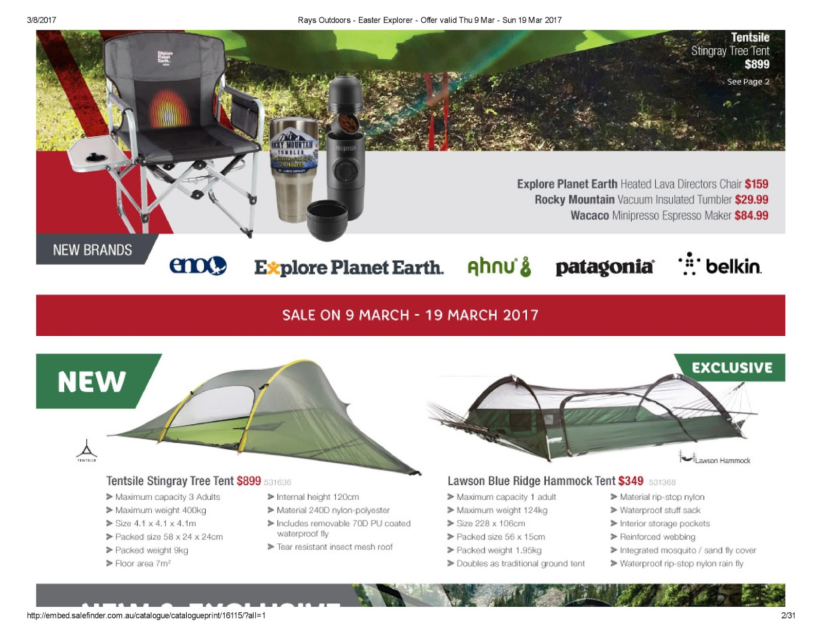 Rays Outdoors Catalogue 9 u2013 19 March 2017  sc 1 st  Australian Catalogues & Rays Outdoors Catalogue 9 u2013 19 March 2017 | Australian Catalogues