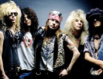 Foto de Guns'Roses jóvenes en sesión fotográfica
