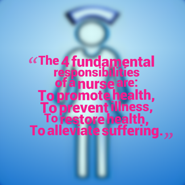 Fundamental Quotes Images: RNquotes: The 4 Fundamental Responsibilities Of A Nurse