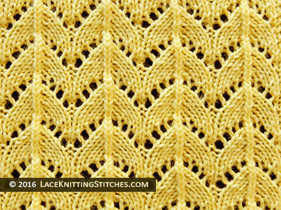 Horseshoe Lace Knit Stitch.