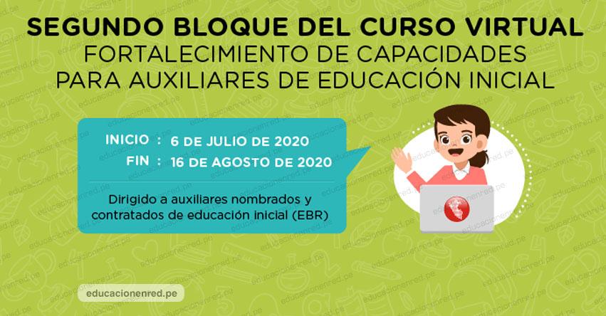 PERUEDUCA: Curso Virtual para los Auxiliares de Educación - Nivel Inicial EBR [INSCRIPCIONES HASTA EL 24 JUNIO] www.perueduca.pe