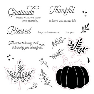 CTMH Fall Blessed Beyond Measure Stamp Set