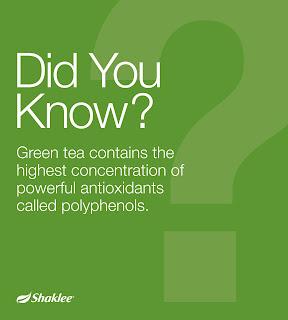 Green Tea kaya dengan antioksidan iaitu polyphenols