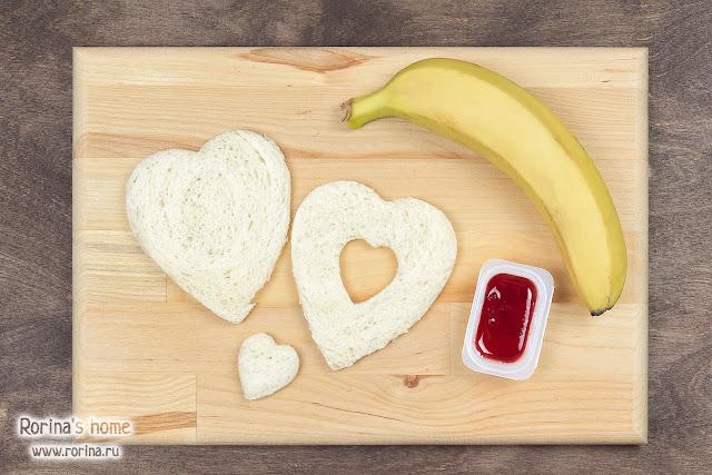 Сэндвичи в форме сердца: рецепт