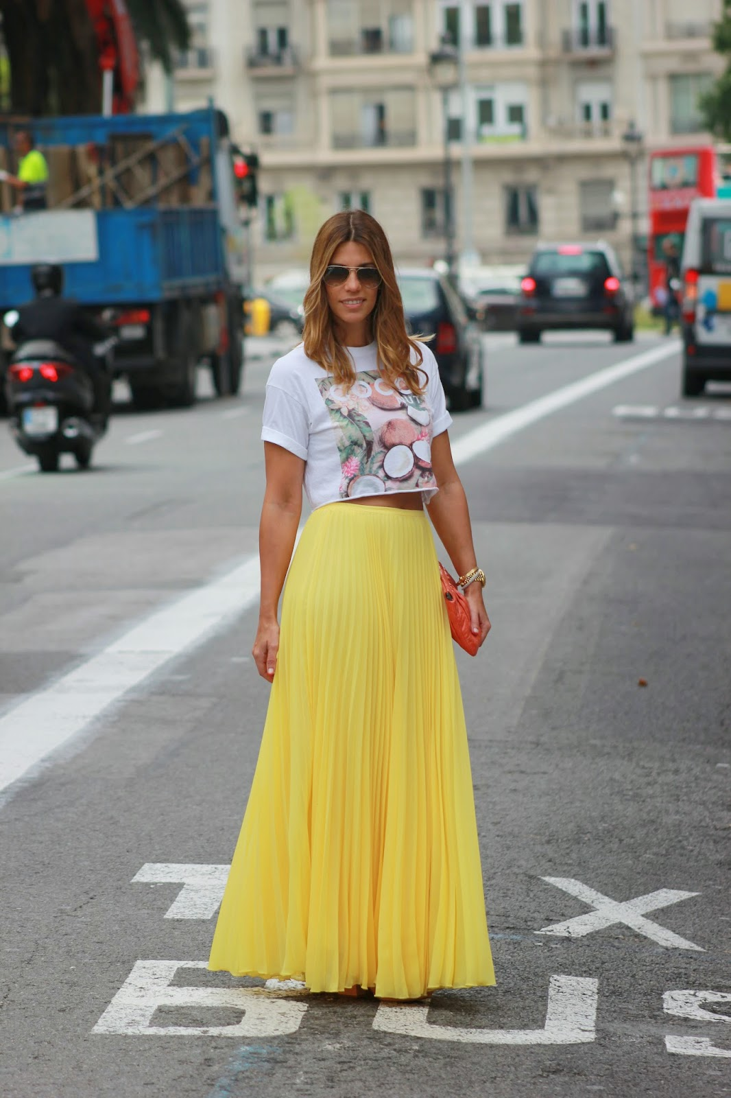 a0f6f7fe27 Miss trendy Barcelona  Yellow skirt