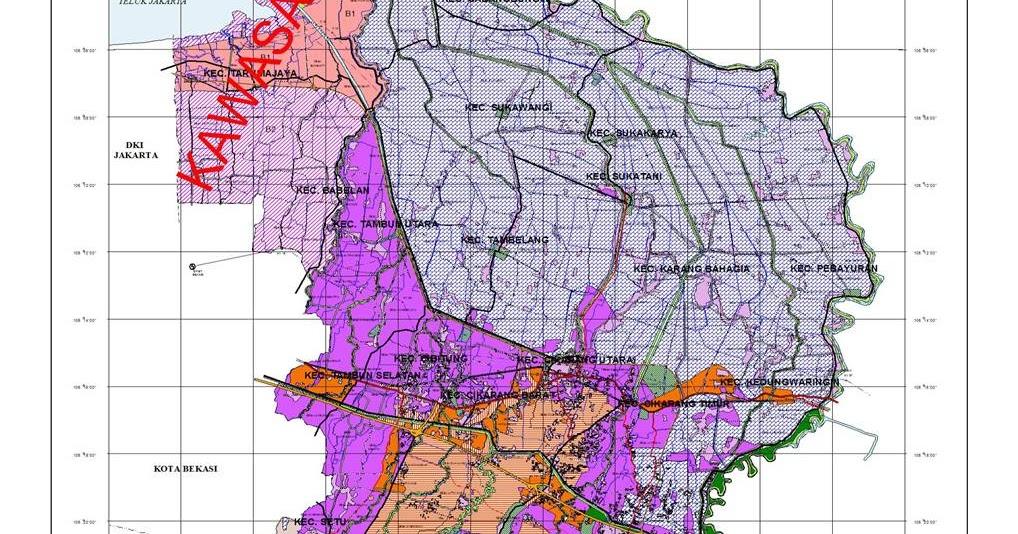 Peta Kabupaten Bekasi   Malioboro