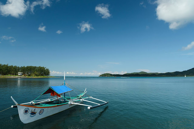 San Vicente Port Cagayan Philippines Docked Motorized Outrigger Boat