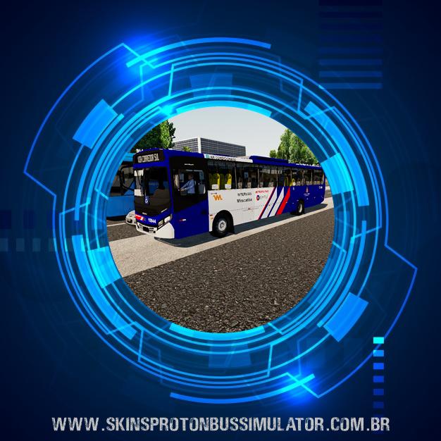 Skin Proton Bus Simulator - Apache VIP IV MB OF-1721 BT5 Viação Miracatiba