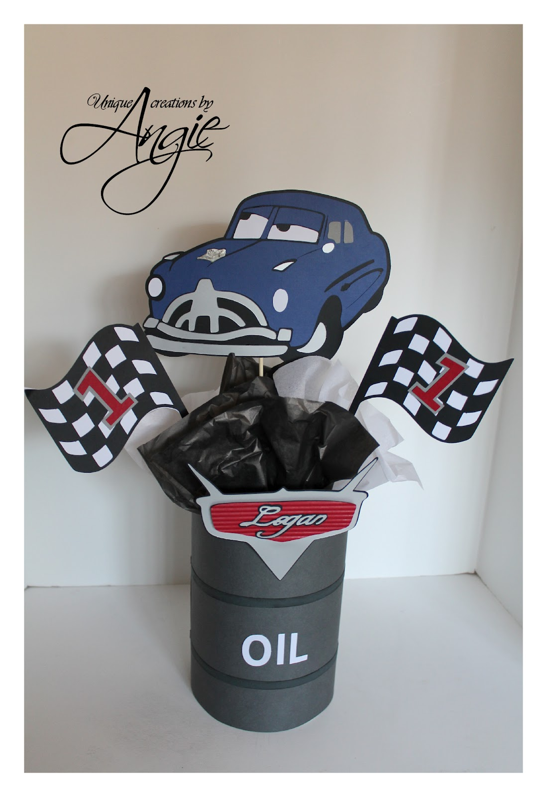 Scrappin Memories Disney Cars Centerpieces