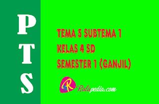 Soal PTS Tematik Tema 5 Kelas 4 Semester Ganjil Terbaru Plus Kunci Jawaban