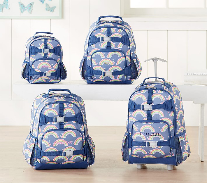 Pottery Barn Kids Blue Rainbow Print Backpacks Size Pre K Is 1099 Small 1499 Large 1899 Rolling 2699 Plus Free Ship