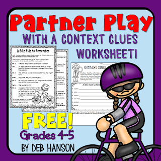 Try out this FREE partner play script that includes a bonus context clues worksheet! Partner plays are excellent fluency-building reading activities that students love!