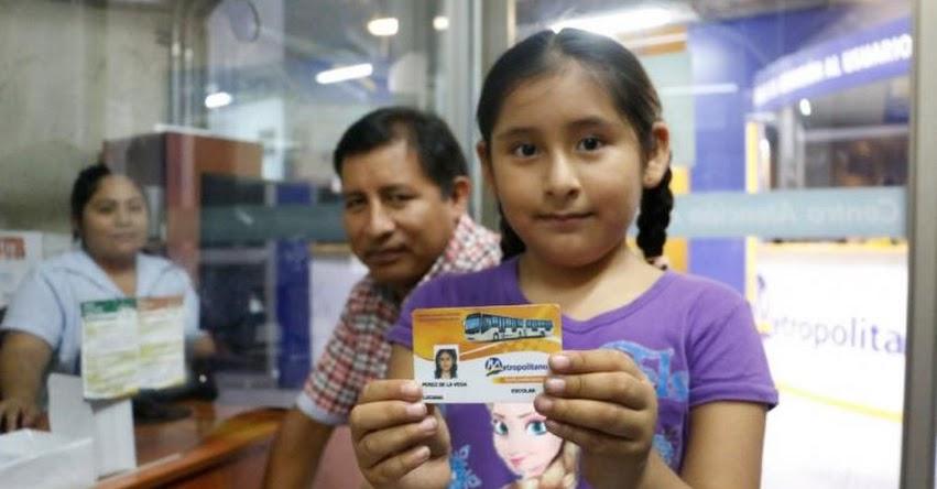 METROPOLITANO 2020: Padres de familia ya pueden tramitar tarjetas preferenciales escolares del medio pasaje