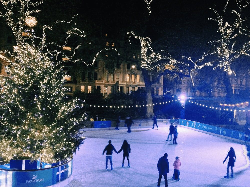 Ice Skating at the Natural History Museum | Hungry Little Bear