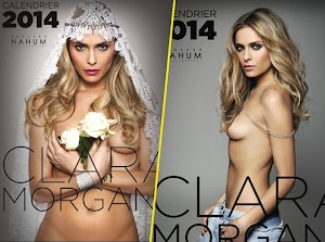 Clara Morgane she needs you to choose the cover of her sexy calendar!