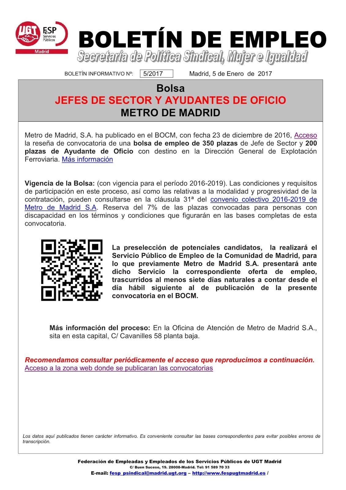 Ugt mara on ofertas de empleo - Ofertas de empleo madrid ...