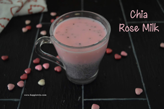 Chia Rose Milk Recipe | how to prepare Chia Seeds Rose Milk | Chia Seed Recipes