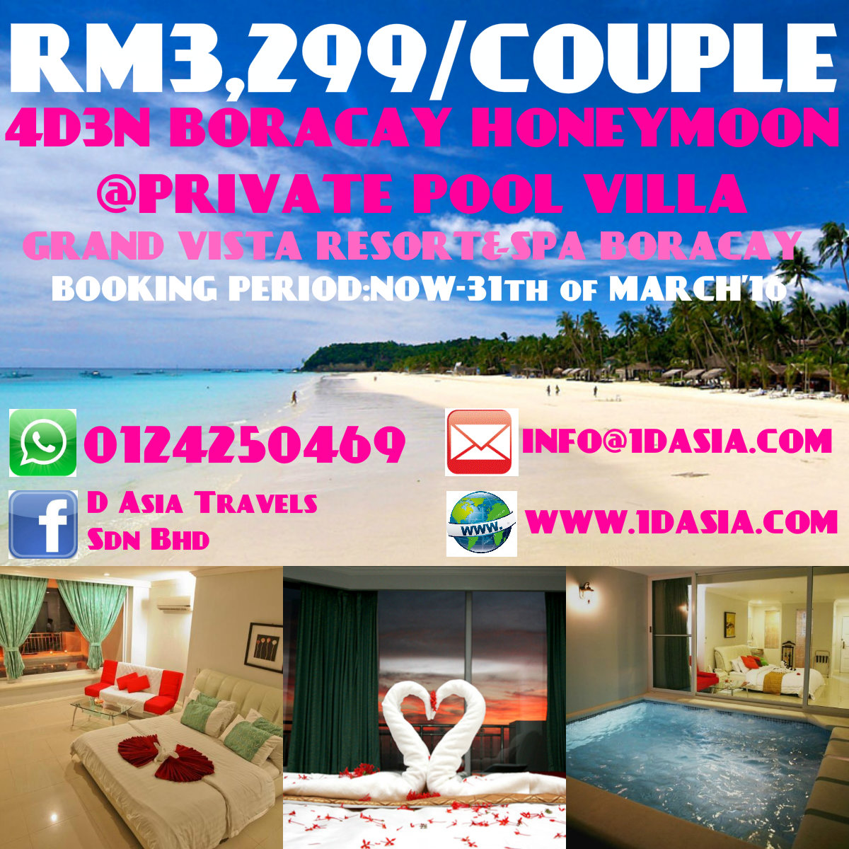 4D3N Boracay Honeymoon Private Pool Villa