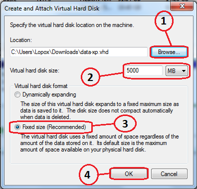 Create and mount VHD files | All you have it