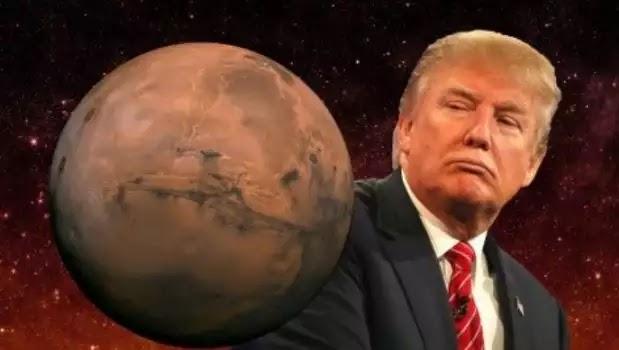 Ο Τραμπ θέλει να στείλει ανθρώπους στον Άρη στα επόμενα 3,5 χρόνια! η σελήνη που ειναι διπλά δαγκώνει!