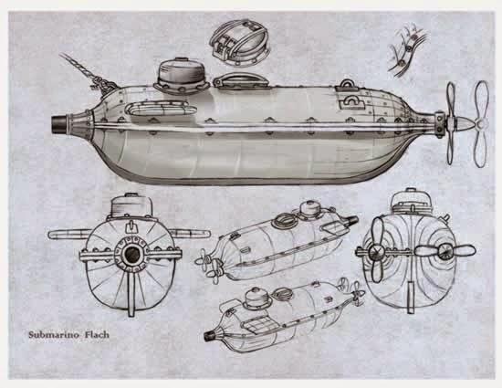 javier coria  los primeros barcos sumergibles