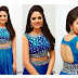 HD PHOTOS OF BEAUTIFUL SOUTH INDIAN MOVIE ACTRESS SRIMUKHI IN HOT BLUE BLOUSE AND SKIRT