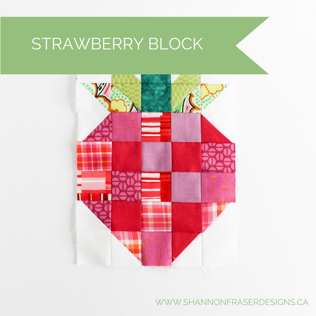 Strawberry Quilt Block | Shannon Fraser Designs | Modern Quilting