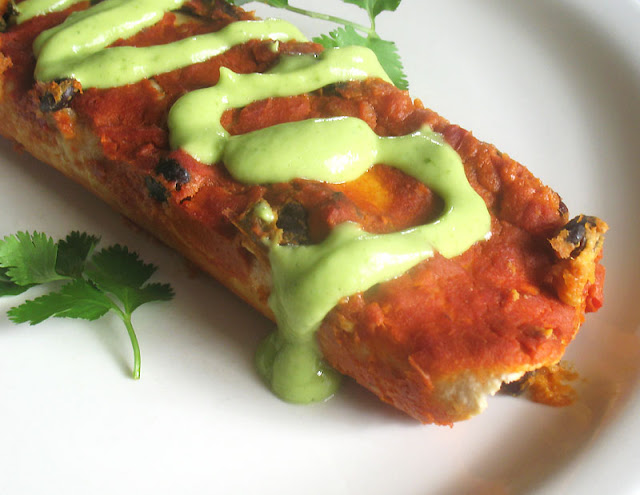Black Bean and Sweet Potato Enchiladas