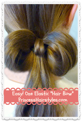 how to make a hair bow using only one elastic