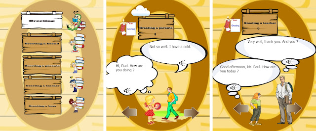 تطبيق English Speaking Practice لتعليم الاطفال التحدث بالانجليزية للاندرويد
