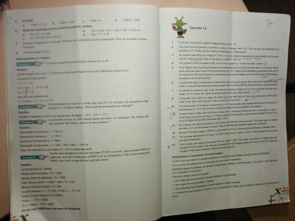 Pis Vadodara Std 7 Grade 7 Math Textbook Ch1