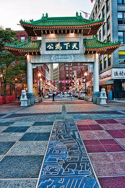Chinatown Arch, Boston, Massachusetts, USA