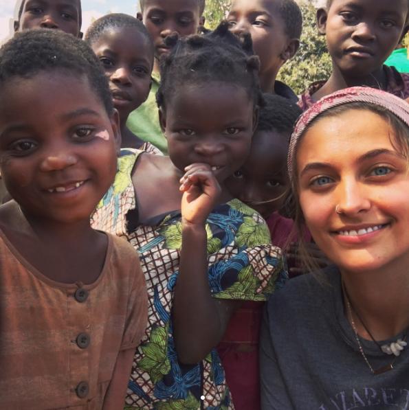 """Résultat de recherche d'images pour """"Paris jackson visits malawi and south africa"""""""