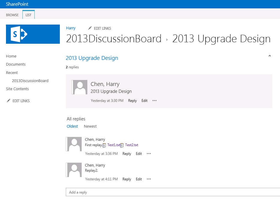 SharePoint Connoisseur: Tips to use SharePoint 2013 discussion board