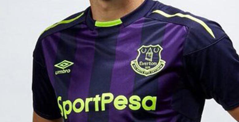 The Everton 17-18 third kit introduces a neat look in dark blue 6f2416844