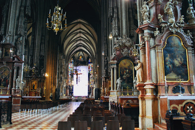 Inside St Stephen's Cathedral, Vienna