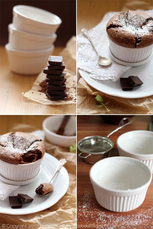 doskonały puszysty suflet czekoladowy