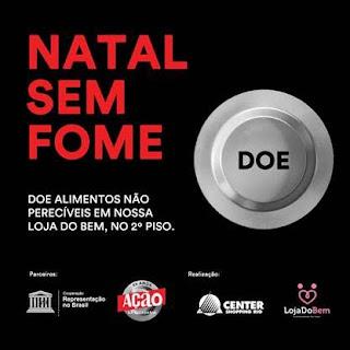 Loja do Bem do Center Shopping Rio participa da 'Campanha Natal Sem Fome'