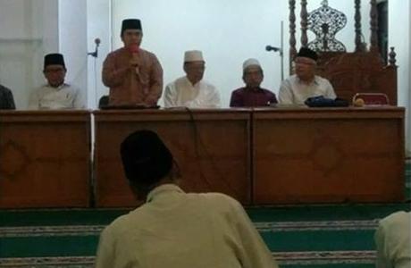 JCH KBIH Masjid Agung Nurul Iman Lakukan Manasik
