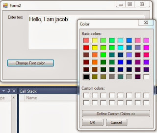How to change Text color using colorDialog in windows form