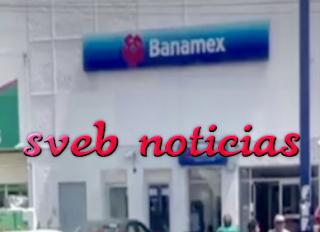 Asaltan sucursal de banco Banamex en Minatitlan este Martes