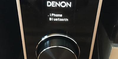 PMA−60 iPhoneでBluetooth 接続表示