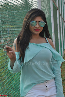 Madhulagna Das looks super cute in White Shorts and Transparent Top 13.JPG