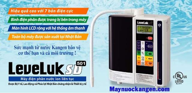 máy nước kangen levekuk sd501 với 7 tấm điện cực
